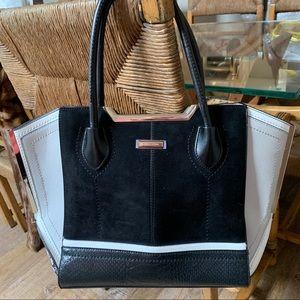 Black embellished purse